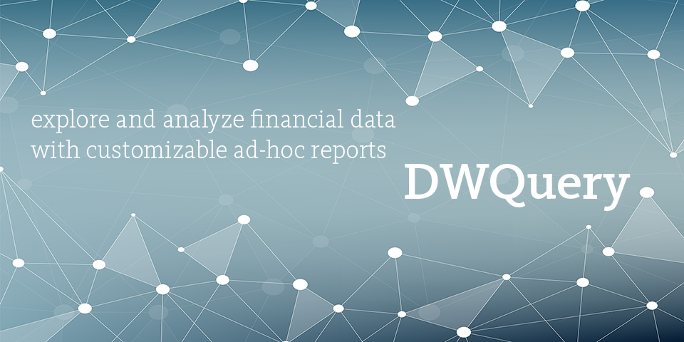 DwQuery is a new tool for creating customizable ad hoc reports for financial data