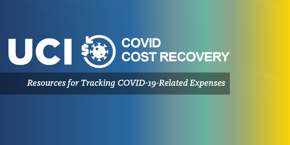 Gradient with text that says resources for tracking COVID-19-related expenses